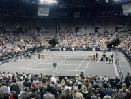 Agassi & McEnroe Warming Up Nov 2012