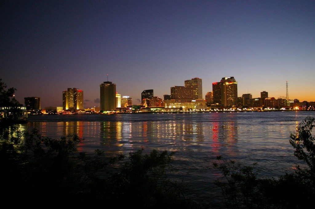 New Orleans Night Skyline