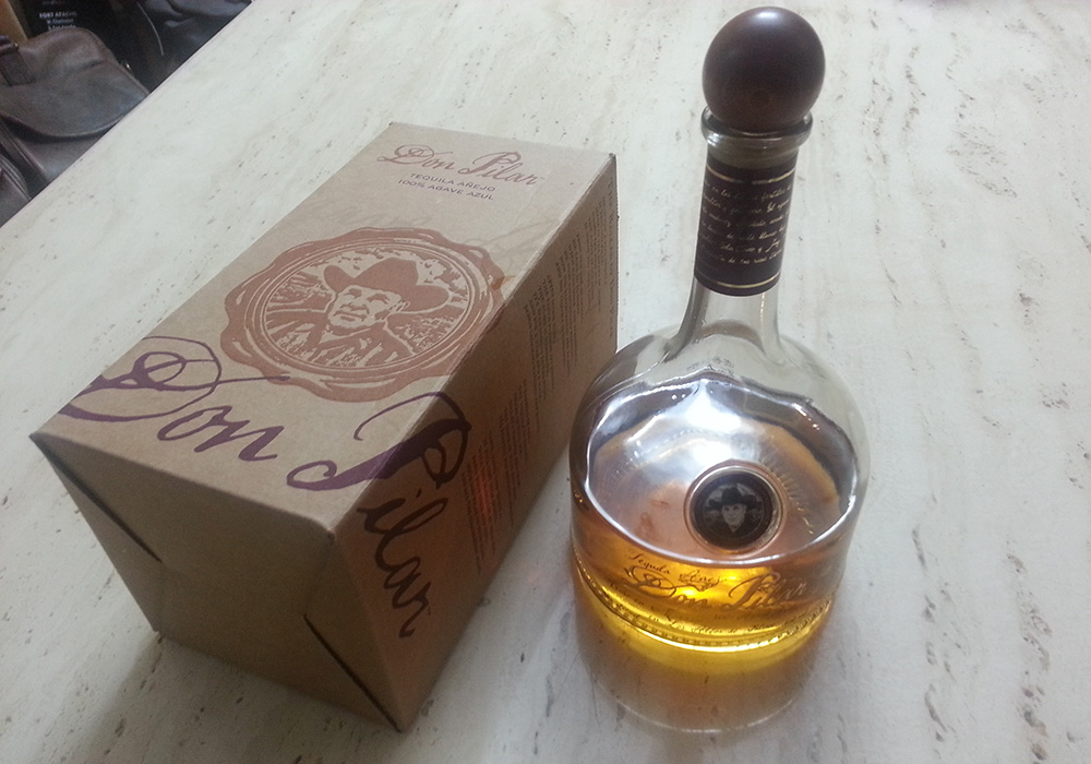 Don Pilar Bottle and Box, Tequila Anejo