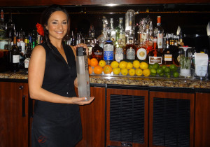 Lovely Bartender with ZING Vodka, Noras Italian Cuisine, Las Vegas