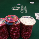 Poker Chips at Table, Cash Game, 2013 World Series of Poker