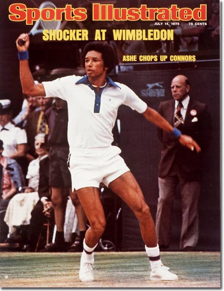 Arthur Ashe at Wimbledon
