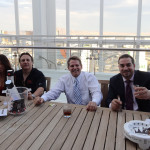 Roy Boulos Enjoying Cigars with Joe and Gavin Maloof