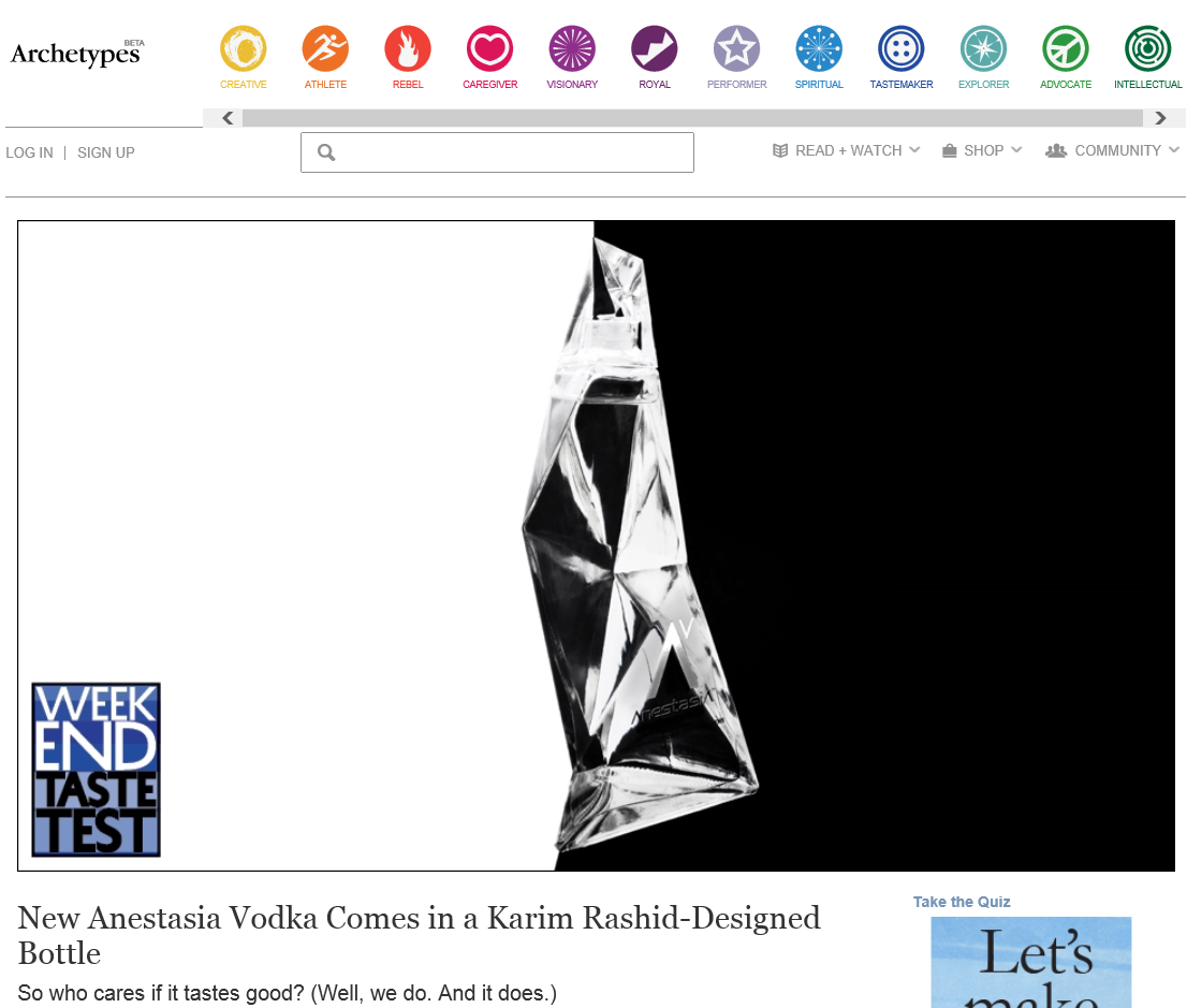 Archetypes_Article, AnestasiA Vodka,_Snapshot