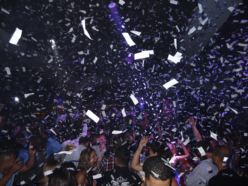 Confetti on Dance Floor, Hyde Bellagio, Nightclub Las Vegas