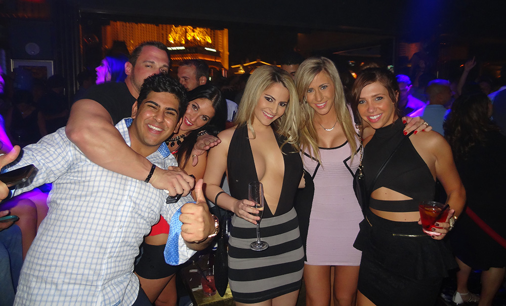 Group Next to our Bottle Service, Hyde Bellagio, Nightclub Las Vegas