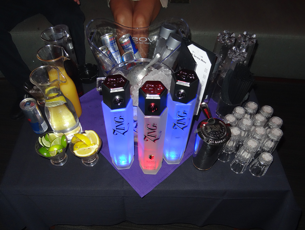 ZING Vodka Bottle Service, Share Nightclub, Las Vegas