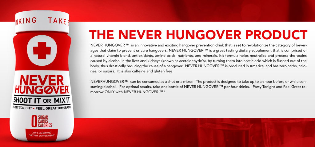 NEVERHUNGOVER, Party Tonight, Feel Great Tomorrow