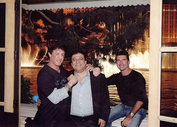 Ramon Desage with Sylvestor Stallone and Simon Cowell