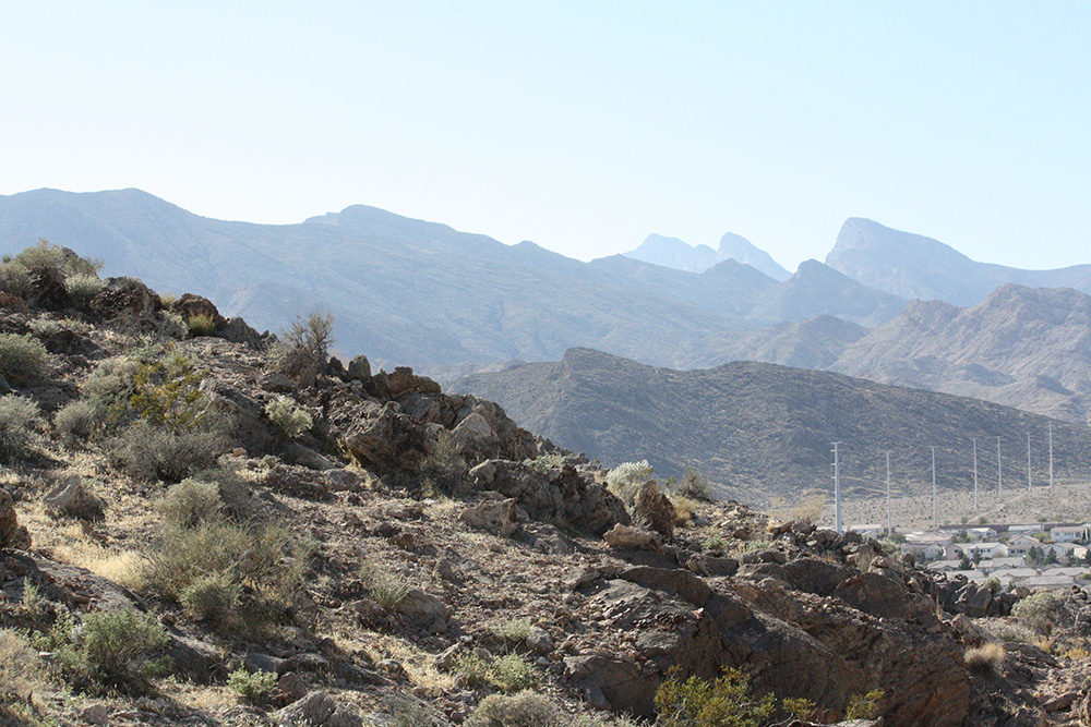 Trail and Texture of Lone Mountain Hike, West Las Vegas
