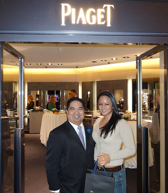Area Boutique Manager, Bernard T. Barbilla, with friend Jaxx, Palazzo