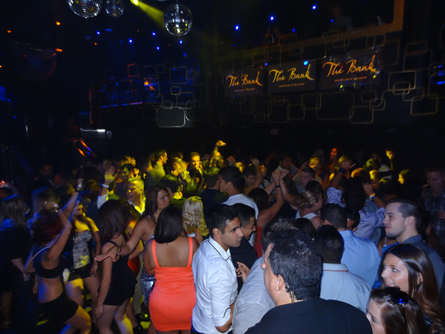 The Bank Nightclub Crowd, Bellagio, Las Vegas
