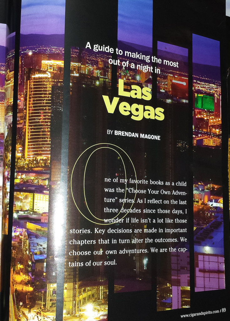 Brendan Magone, Cigar And Spirits Magazine, An Elegant Evening in Sin City