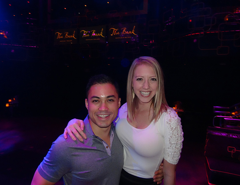 Cute Couple, The Bank Nightclub, Bellagio Las Vegas