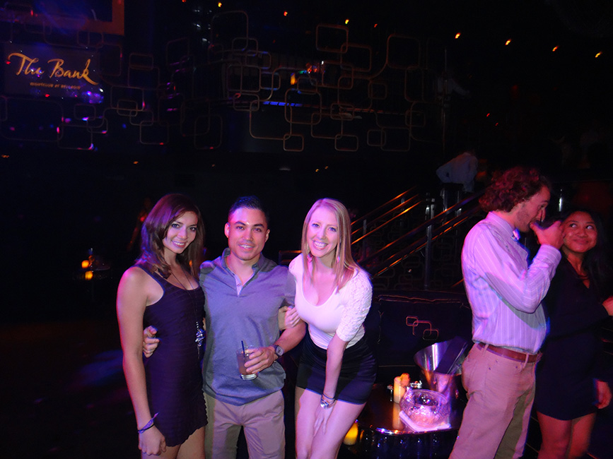 Fun times with friends, The Bank Nightclub Bellagio, Las Vegas