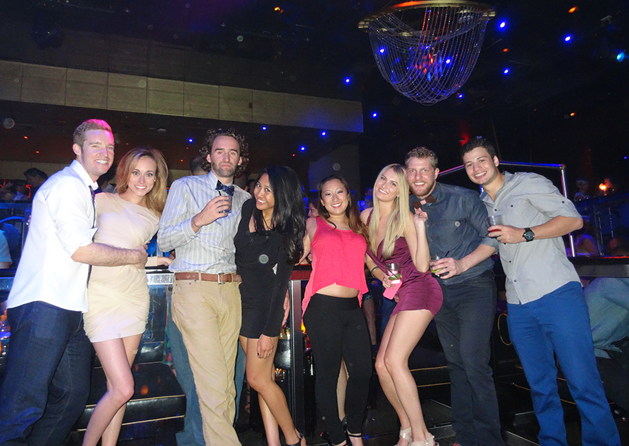 Group of Friends, The Bank Nightclub Bellagio, Las Vegas