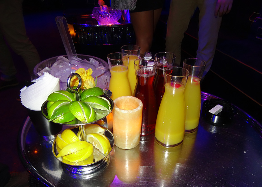 Bottle Service, Juice and Fruit, The Bank Nightclub Bellagio, Las Vegas