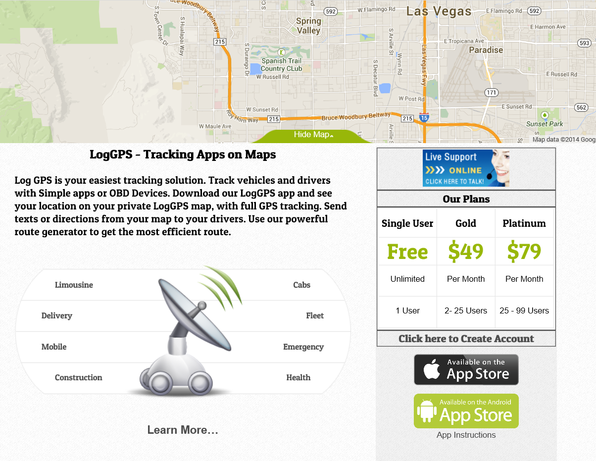 Log GPS, Tracking Apps on Maps