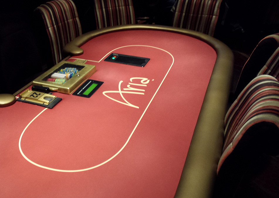 Poker Table at Aria Resort and Casino, City Center