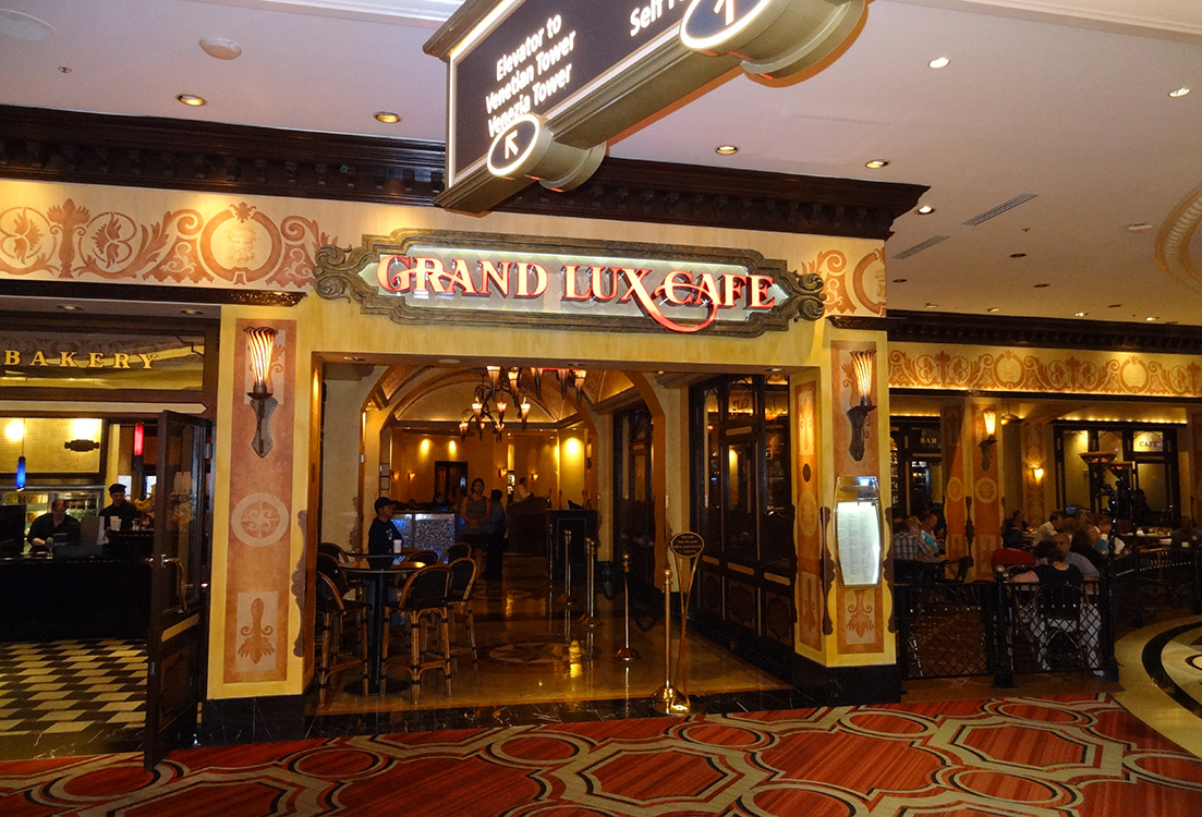 Entrance Grand Lux Cafe, Venetian Hotel, Las Vegas