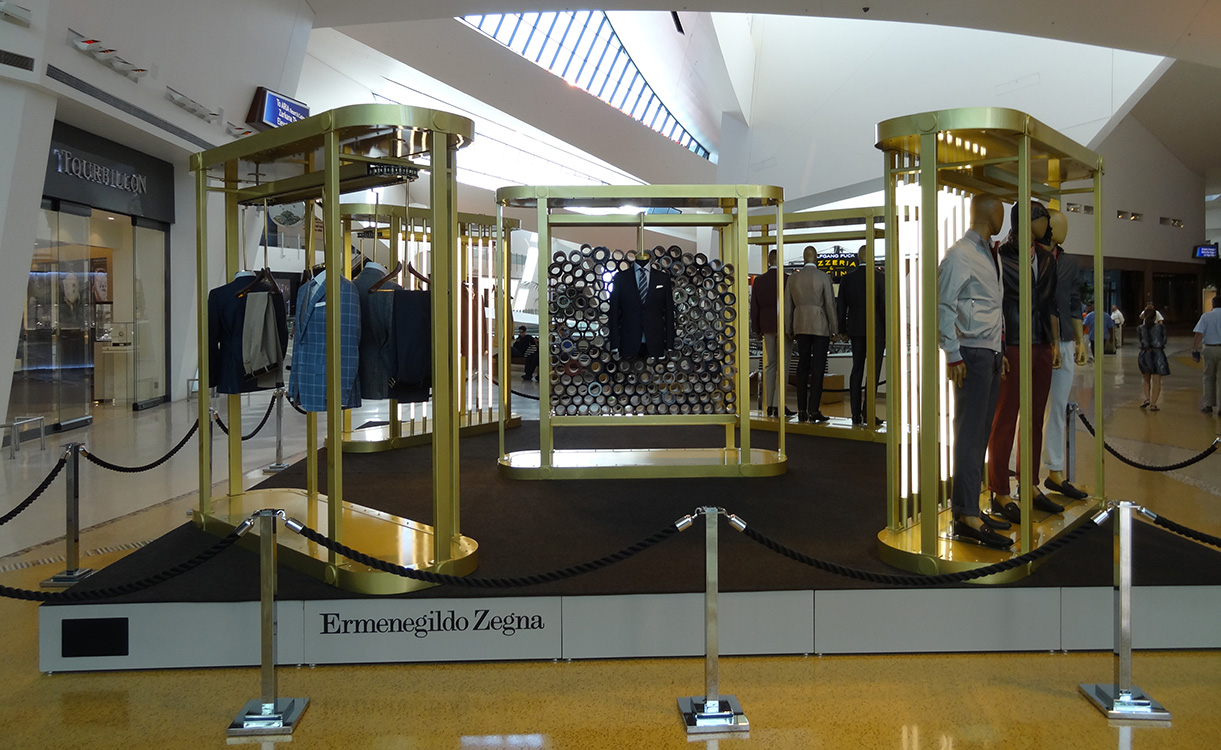 Ermenegildo Zegna Display, Crystals City Center, Las Vegas