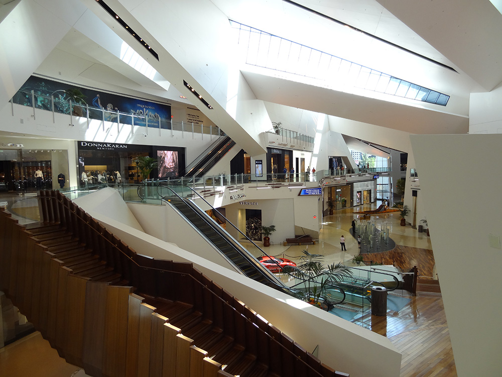 Inside The Shops at Crystals, City Center, Las Vegas