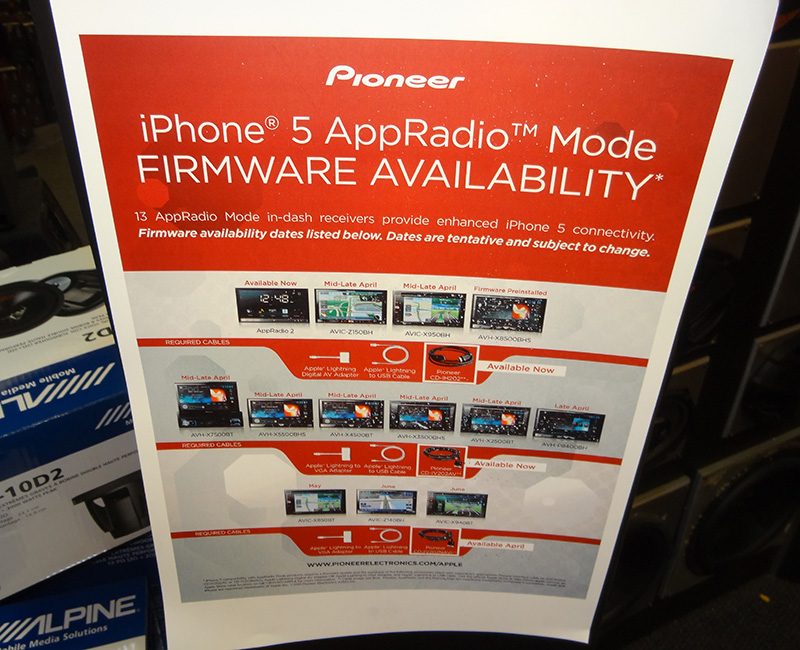 Pioneer iPhone5 AppRadio Firmware, Audio Express, Las Vegas