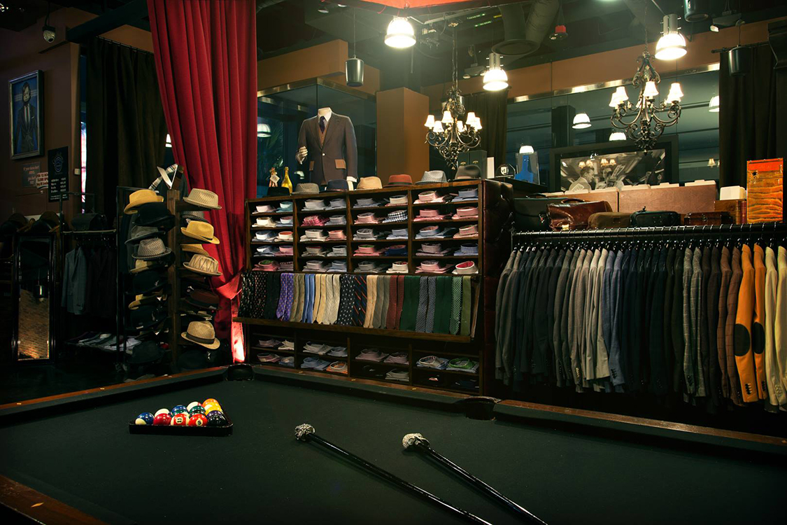 Pool Table Inside Stitched, Menswear, Cosmopolitan Las Vegas