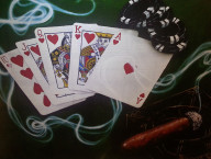 Royal Flush Hearts, Poker