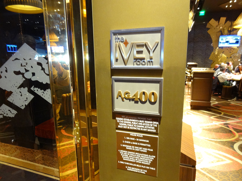 The Ivey Room Entrance, High Stakes Poker, Las Vegas