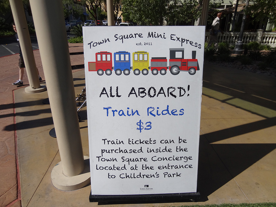Train Rides for Children, Town Square, Las Vegas