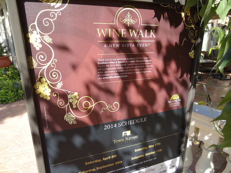 Wine Walk in Town Square, Las Vegas