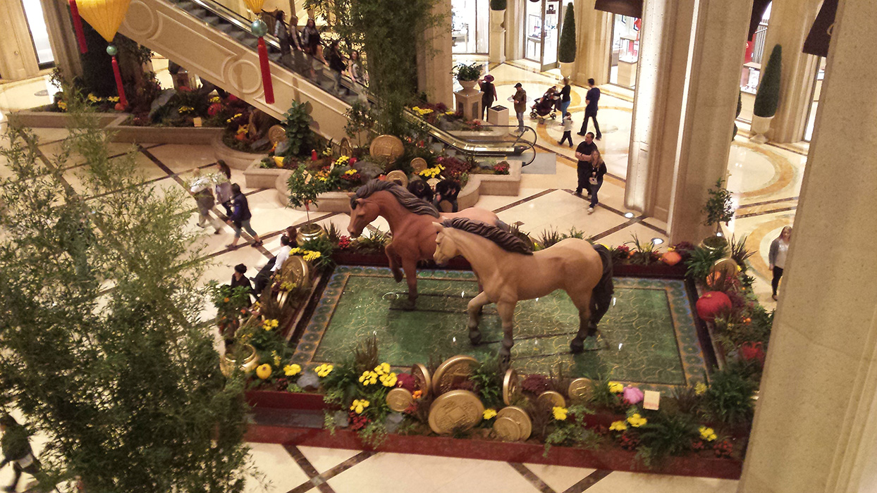 Year of the Horse, Palazzo Waterfall Atrium & Gardens, Vegas