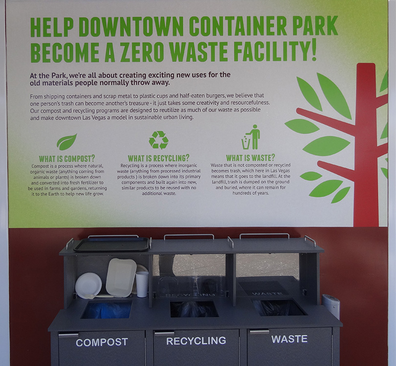 Zero Waste, Container Park, Downtown District Vegas