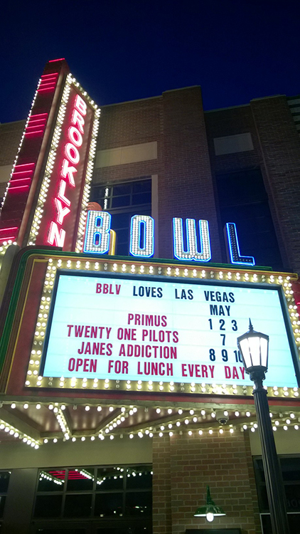 Brooklyn Bowl Shows, Primus and Janes Addiction, LINQ District, Las Vegas