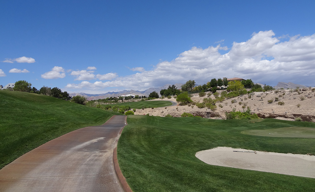Enjoying a Round of Golf, Badlands Golf Course, Las Vegas