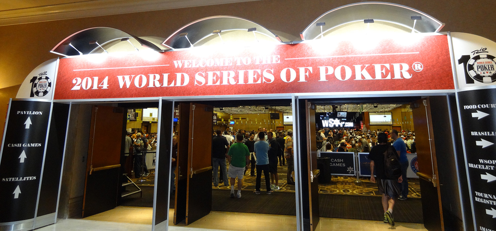 Entrance to World Series of Poker Main Room, WSOP 2014 Vegas