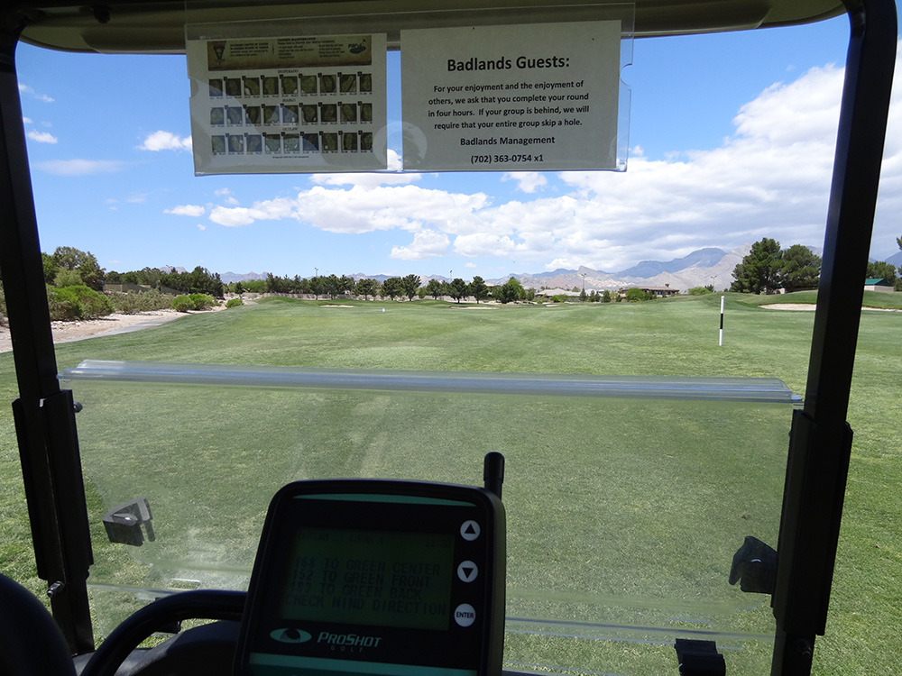 Golf Cart GPS, Badlands Golf Course, Las Vegas