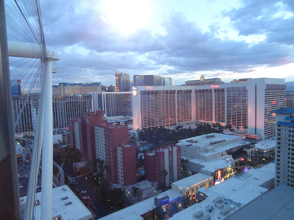 Halfway up the High Roller, LINQ District, Las Vegas