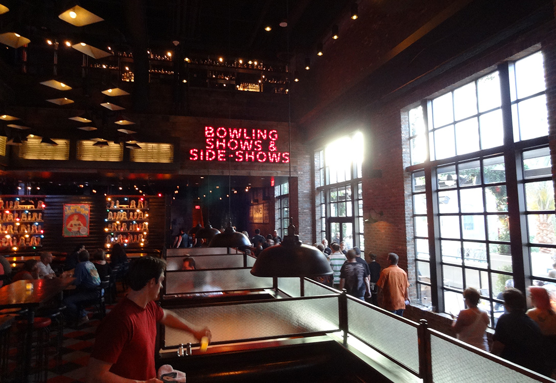 Inside Brooklyn Bowl, LINQ District, Las Vegas