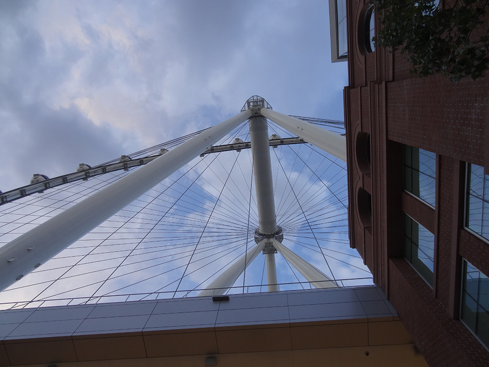 Looking up at the High Roller, LINQ District, Las Vegas