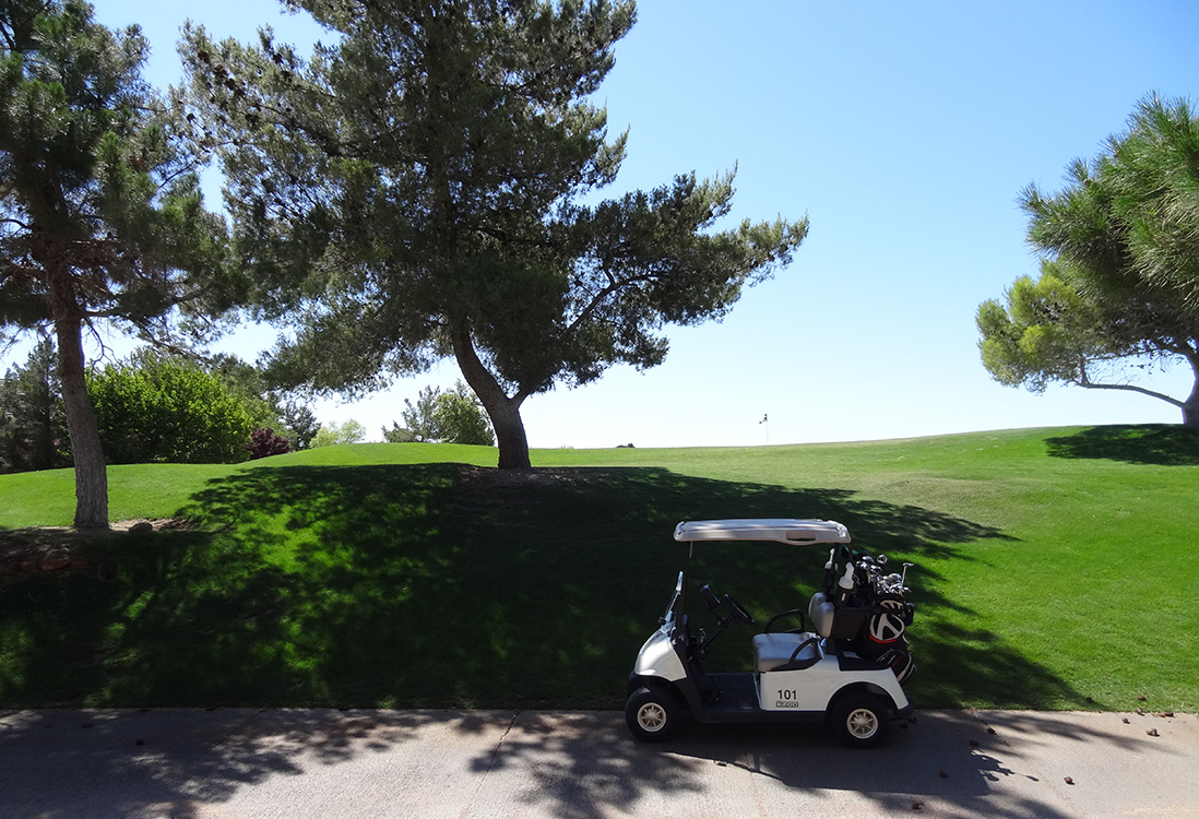 Near a Green With Cart, Badlands Golf Course, Las Vegas