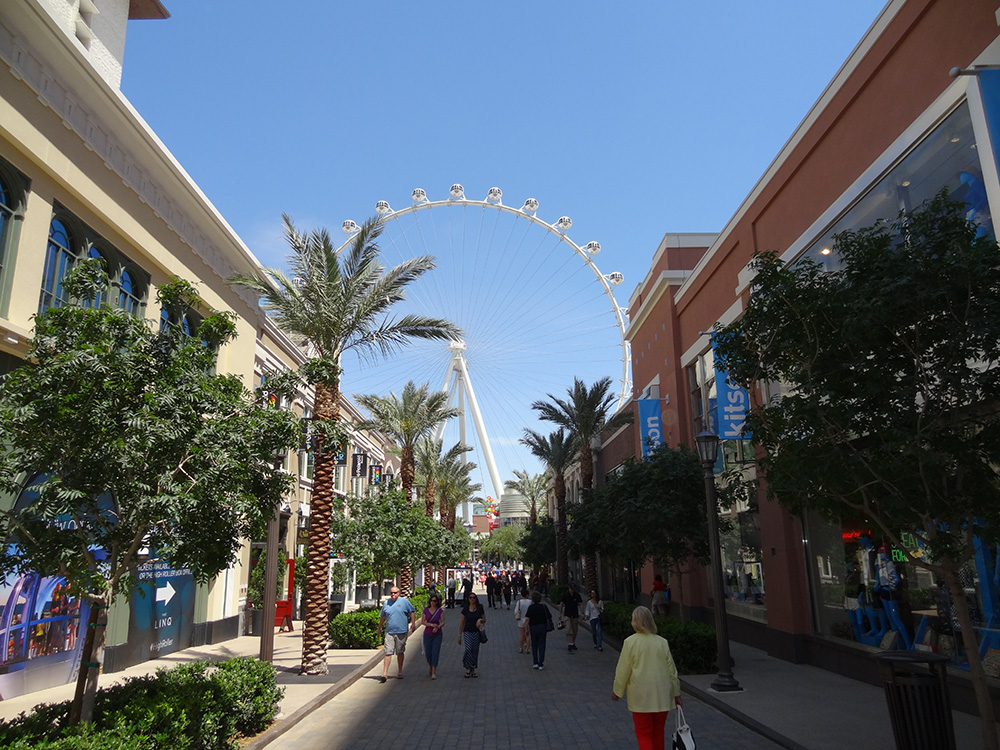 Walking in LINQ Retail District, Las Vegas