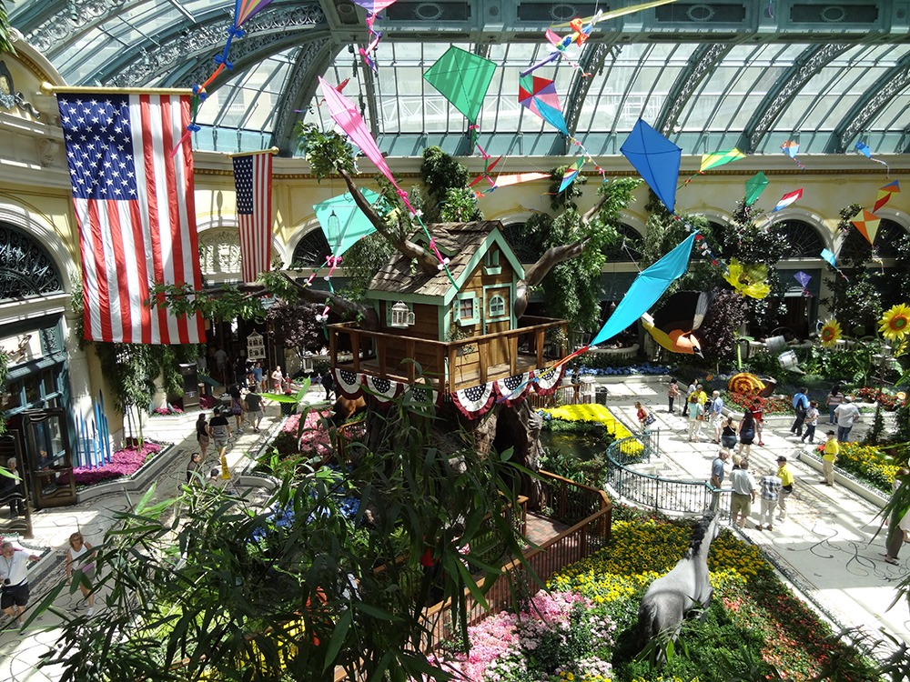 Bellagio Botanical Gardens U0026 Conservatory, Summer Celebration 2014, Las  Vegas
