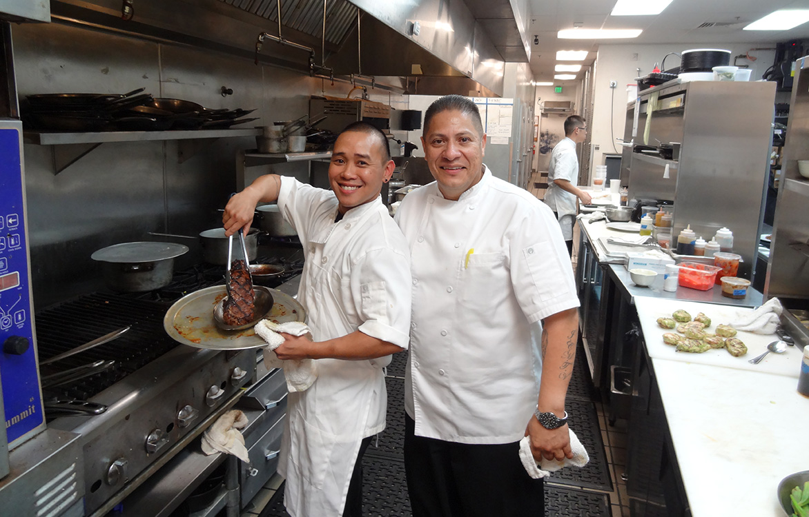 Executive Chef Vincent E. Contreras with Kitchen Assistant, Geisha House Flamingo, Summerlin Vegas