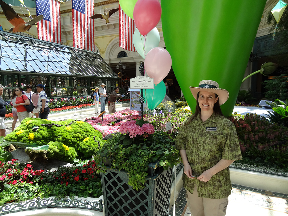 Ms. Green Thumb, Bellagio Conservatory & Botanical Gardens, Las Vegas 2014