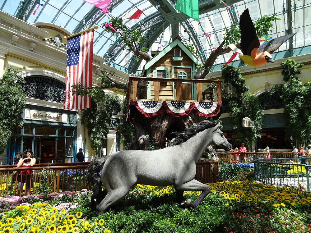 Tree House, Horse & Flowers, Summer Celebration 2014, Bellagio Conservatory Vegas