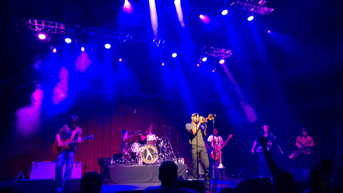 Trombone Shorty Playing at Brooklyn Bowl, LINQ Las Vegas
