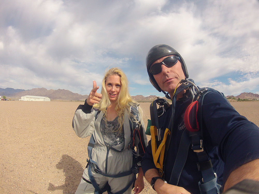 After Landing, Happy Cool Katie, Skydive Las Vegas