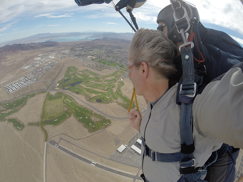 Brendan Magone, Tandem Skydiving, Golf Course & Lake Mead View, Skydive Las Vegas